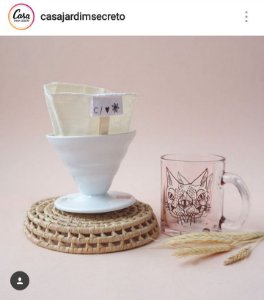 Caneca Vidro temperado Gato