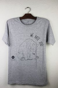 camiseta we hate zoo