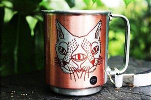 Caneca alumínio rosê adote