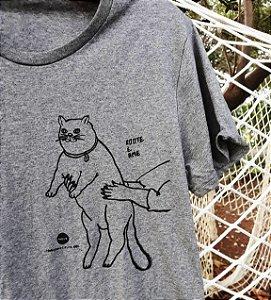camiseta gato gorducho