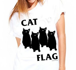 camiseta cat flag