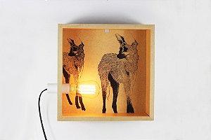 luminária de parede lobo guará
