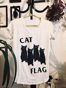 camiseta feminina catflag