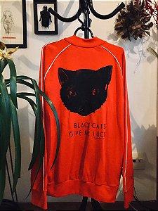 casaco esportivo gato preto tamanho G