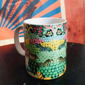 caneca porcelana TROPICAL