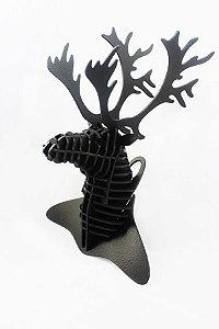 cervo 3D em madeira