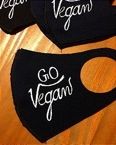 máscara xô covid, go vegan