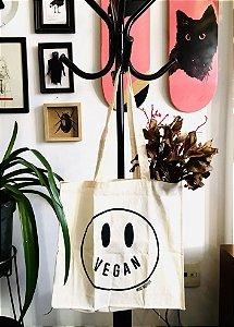 ecobag algodão happy vegan