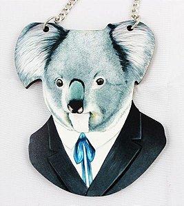 colar em madeira coala