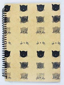 caderno gatos pautado
