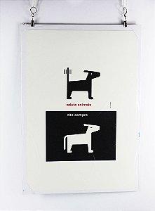 gravura em tipografia Guto Lacaz - adote