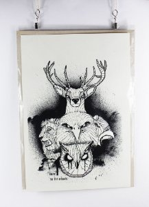 gravura em serigrafia - Coelho Nulo