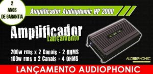 AMPLIFICADOR MINI DIGITAL 2 CANAIS HP 2000