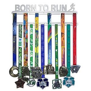 Porta Medalhas Corrida Feminino - Born To Run