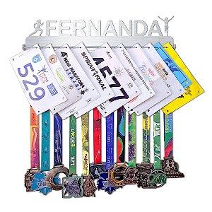 Porta Medalhas e Números de Peito Personalizado Com o Nome