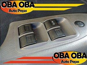 Botão de Vidro Dianteiro Esquerdo Honda Civic LX 1.7 16v Gasolina 2004/2004