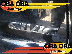 Emblema Civic da Tampa Honda Civic Lx 1.7 Aut 2001/2002