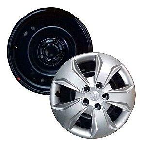 Jogo Rodas Ferro Calotas Hyundai Creta Tucson Elantra 5x114