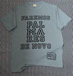 Camiseta FAREMOS PALMARES DE NOVO Cinza