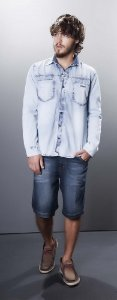 Bermuda Masculina Tradicional Jeans