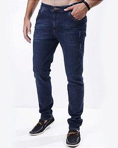 Calça Jeans Escura com Puidos