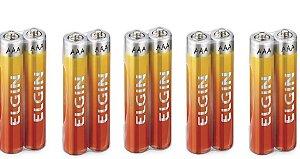 Pilhas Zinco-carvão Elgin Aaa 1.5v Shrink Com 10 Unidades