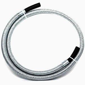 Mangueira Flexível Em Aço E Borracha 3/8 Gás Glp 1,20 Metros