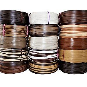 Fita fibra de junco sintético vime de 10 mm rolo com 500 metros para cadeira e artesanato