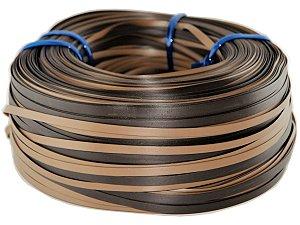 Fita de junco sintético de 10 mm rolo com 500 metros cor Argila mesclado