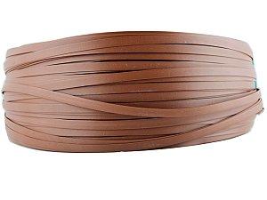 Fita de junco sintético de 10 mm rolo com 500 metros cor Chocolate