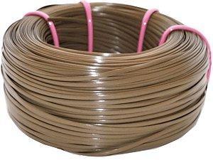 Fita meia cana 5mm de junco Vime  Rattan sintético para cadeiras e artesanato 500 metros Castanho