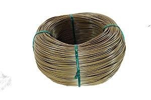Fio cordão de junco vime rattan sintético de 3mm 500 metros Castanho