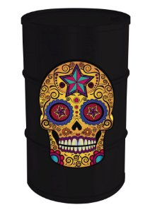 Tambor Decorativo 200L - Mexican Skull