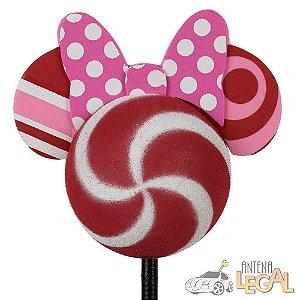 Enfeite de Antena para Carro Minnie Pirulito Disney