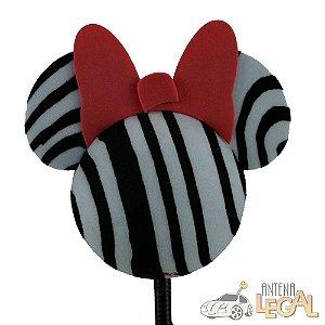 Enfeite de Antena para Carro Minnie Zebra Disney