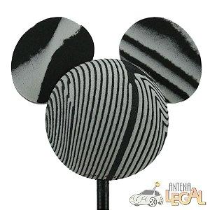 Enfeite de Antena para Carro Mickey Zebra Disney