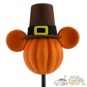 Enfeite de Antena para Carro Mickey Abóbora de Chapéu Disney