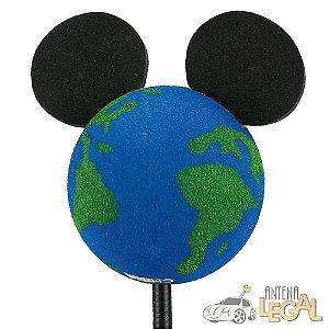Enfeite de Antena para Carro Mickey Planeta Terra Disney