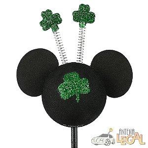Enfeite de Antena para Carro Mickey Trevo da Sorte Disney
