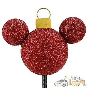 Enfeite de Antena para Carro Mickey Bola Árvore de Natal Disney