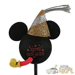 Enfeite de Antena para Carro Mickey Happy New Year Disney