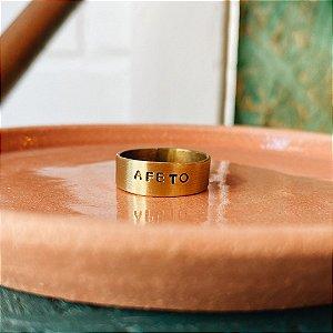 """Aliança Adore M """"AFETO"""""""