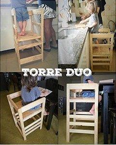 Torre de Aprendizagem Montessori Duo 2 em 1