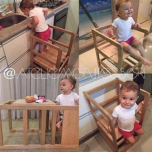 Torre de Aprendizagem Montessori Tri 3 em 1