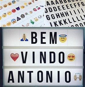 Lightbox com emojis Emojis