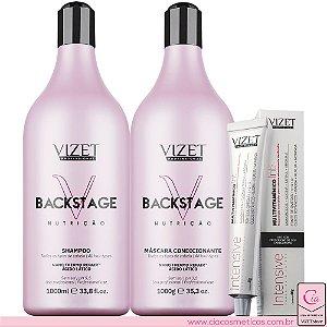 Backstage Shampoo e Máscara + Intensive Multivitamínico Vizet