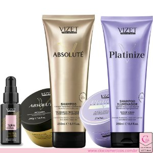 Combo Home Care Absoluté + Platinize + Splendidus 11 in 1 30ml  Vizet rofissional