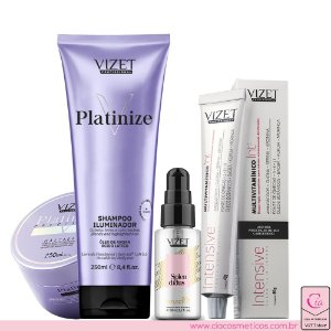 Combo Platinize Home Care + Oil 38ml + Intensive Vizet Profissional