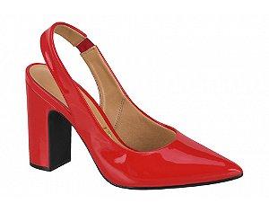 sapato chanel vizzano salto alto quadrado verniz vermelho - 1285103-vermelho