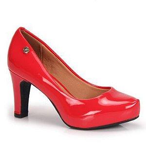 sapato social vizzano salto alto com meia-pata verniz vermelho - 1840101-vermelho